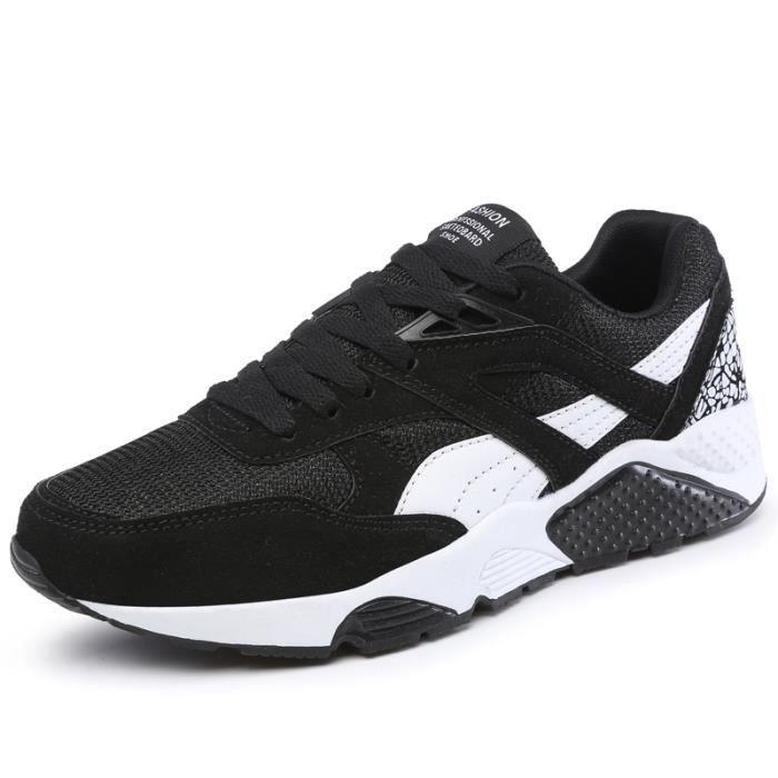 2016 Nouvelle SneakerMode Hommes Noir Doux Re...
