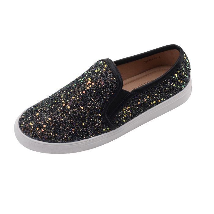 Cornelia) Slip Canvas Le Tribal Motif Chaussures de sport mode, V09M8 Taille-41