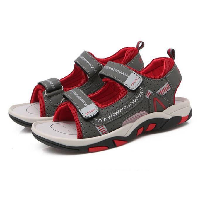 Sandales Antidérapant Bout Wowa® Randonnée Été Garçon Chaussures Beach De Ouvert Enfant Rouge Sport SpzMqUVG