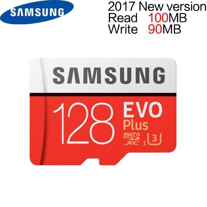 CARTE MÉMOIRE Samsung 128 GB MAX R 100 MB/S W 60 MB/S Mémoire Mi