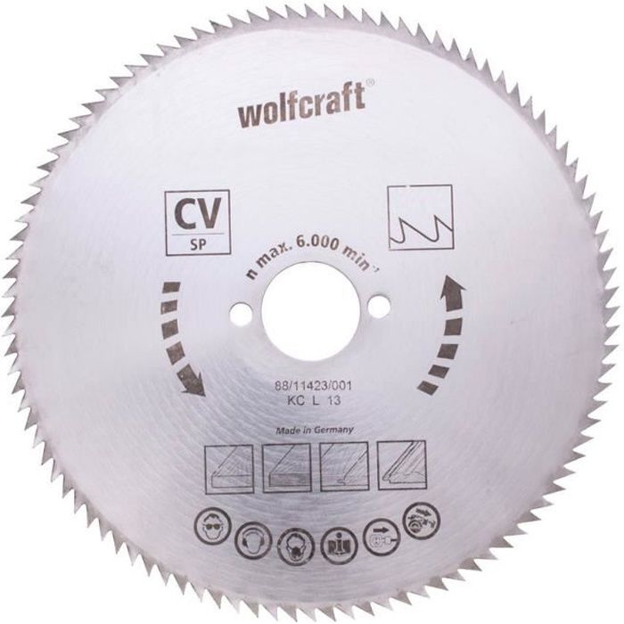 wolfcraft lame scie circulaire cv - 100 dents
