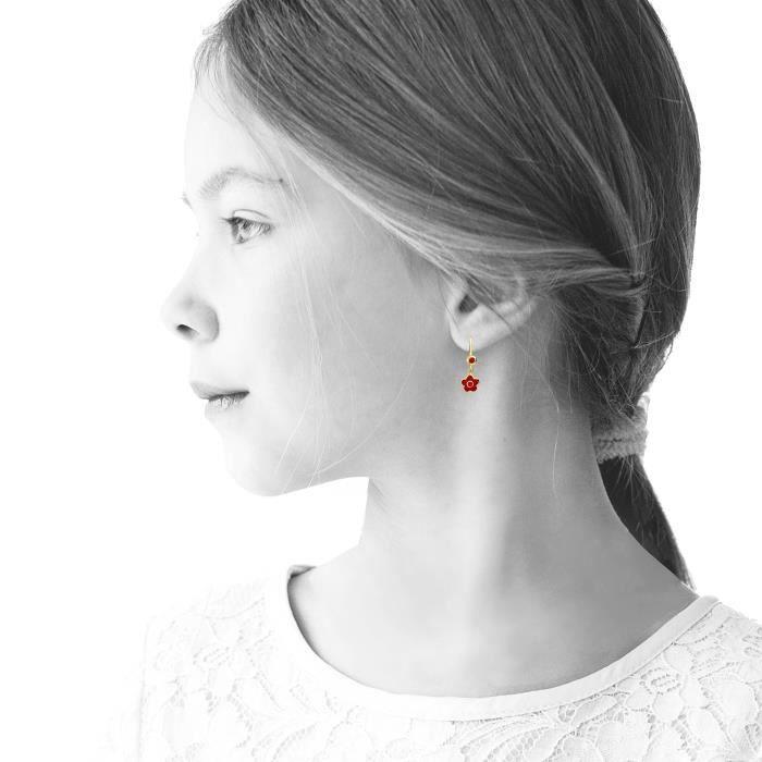 Girls 14k Gold-plated Crystal Butterfly Earrings M2W31