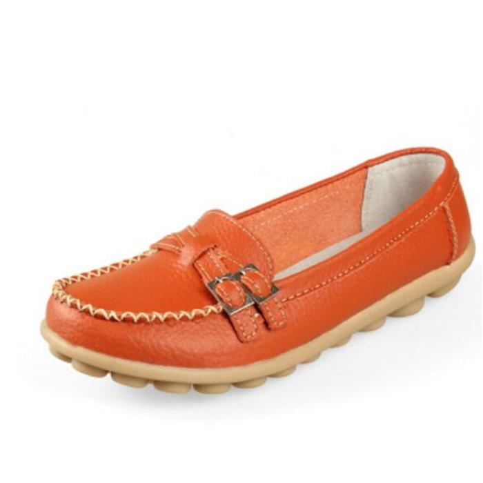 Chaussure femme Haut qualité Confortable Moccasin En Cuir Marque De Luxe Nouvelle Mode 2017 ete Loafer femme Grande Taille 35-41