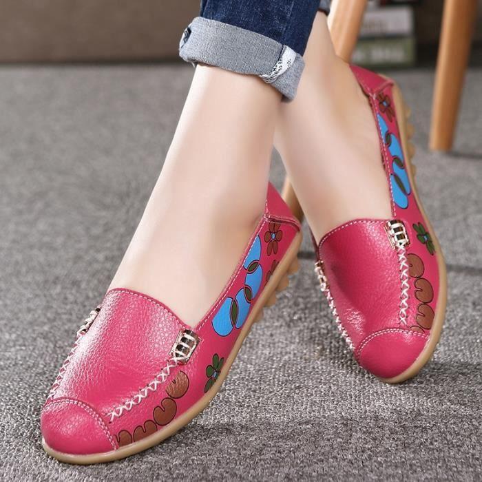 Nouveau bonbons Couleurs cuir Mocassins femme Chaussures Casual Mode 2017 Respirant Slip-on pois doux Chaussures plates Mère