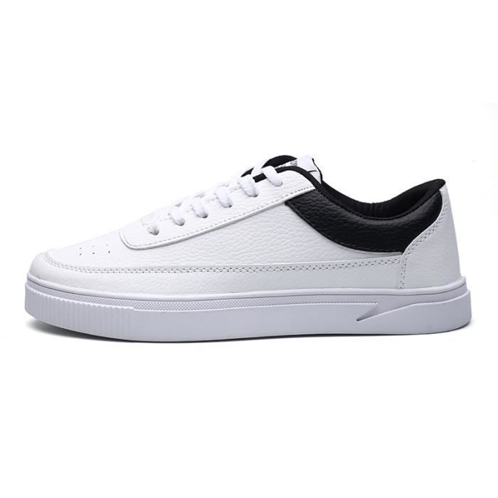 Toe Chaussures Mode De Homme Blanches Sport Sneakers Chaussure Round nwB0gq1nA