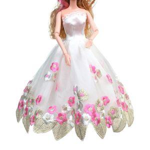 ACCESSOIRE POUPÉE 1pc Robe de mariée pure pour Barbie Doll Soirée vê