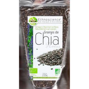 CIRCULATION SANGUINE Graines De Chia Noires Bio 200g. Ecoidées.