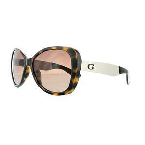 7dd3ed9a9b LUNETTES DE SOLEIL Guess Sunglasses GU7392 52F Dark Havana Brown Grad