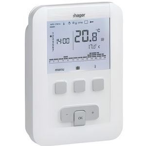 THERMOSTAT D'AMBIANCE HAGER  Thermostat d'ambiance programmable digital