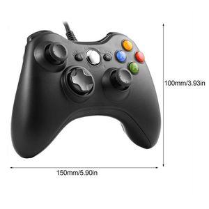 JOYSTICK - MANETTE Contrôleur filaire manette de jeu Joypad câblé USB