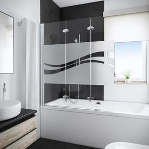 pare douche 3 volets achat vente pare douche 3 volets. Black Bedroom Furniture Sets. Home Design Ideas
