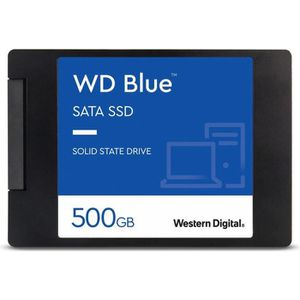 DISQUE DUR INTERNE WD Blue SSD - 3D Nand - Format 2.5/7mm - 500 Go