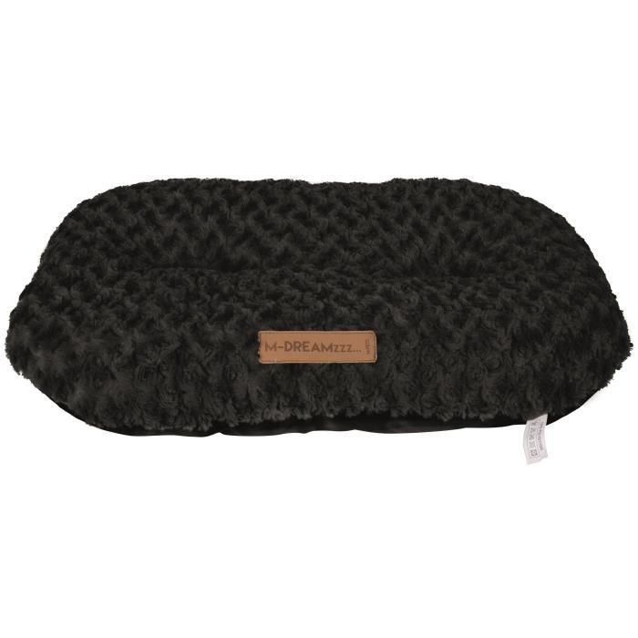 M-PETS Coussin oval Shetland XXL - 97x65cm - Noir - Pour chien