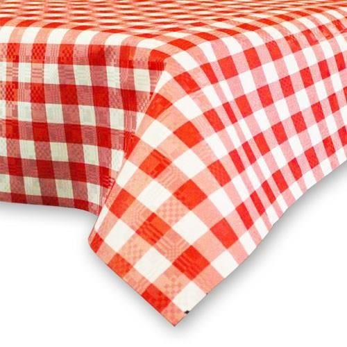 nappe à carreaux rouge et blanc en papier 90 x 90 cm - achat / vente