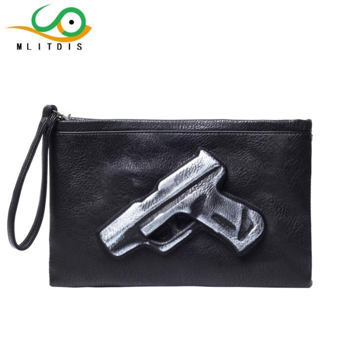 sac à main 3D Print Gun femmes sac hommes en cuir et dembrayage sac femmes Sacs pour femmes enveloppe embrayages femmes-1013