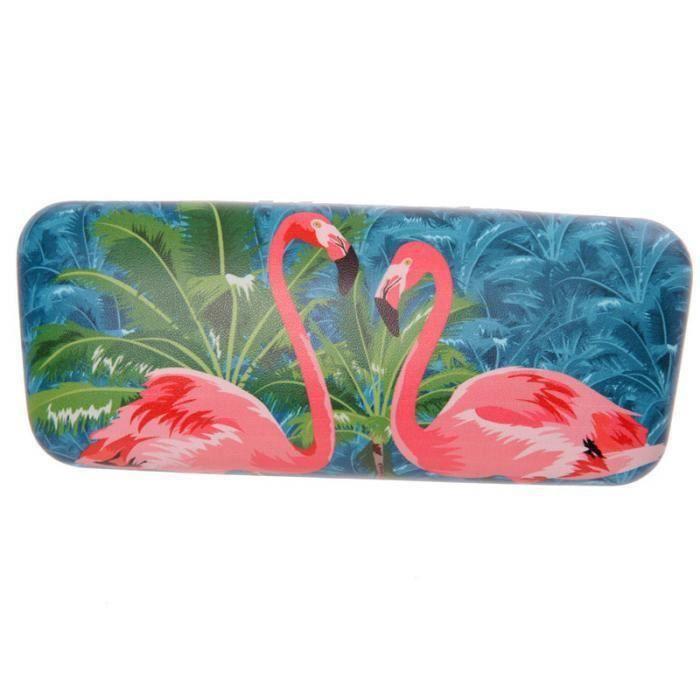 Etui à lunettes de soleil - Flamants roses (1)
