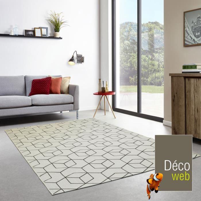 tapis int rieur ext rieur essenza beige cubes 3d. Black Bedroom Furniture Sets. Home Design Ideas