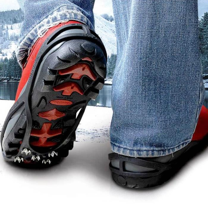 Crampons pour chaussures anti derapant neige et glace t for Glace a coller