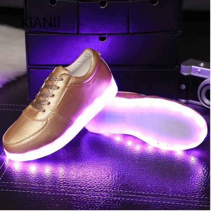 Chaussures LED Lumière Clignotants Chaussures de Sports Baskets Dore