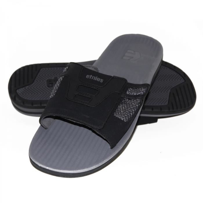 samples shoes TONGS ETNIES BOTTLE GREY BLACK MEN
