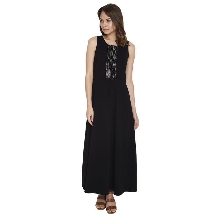 Womens Black Sequined Maxi Dress RH8C5 Taille-32