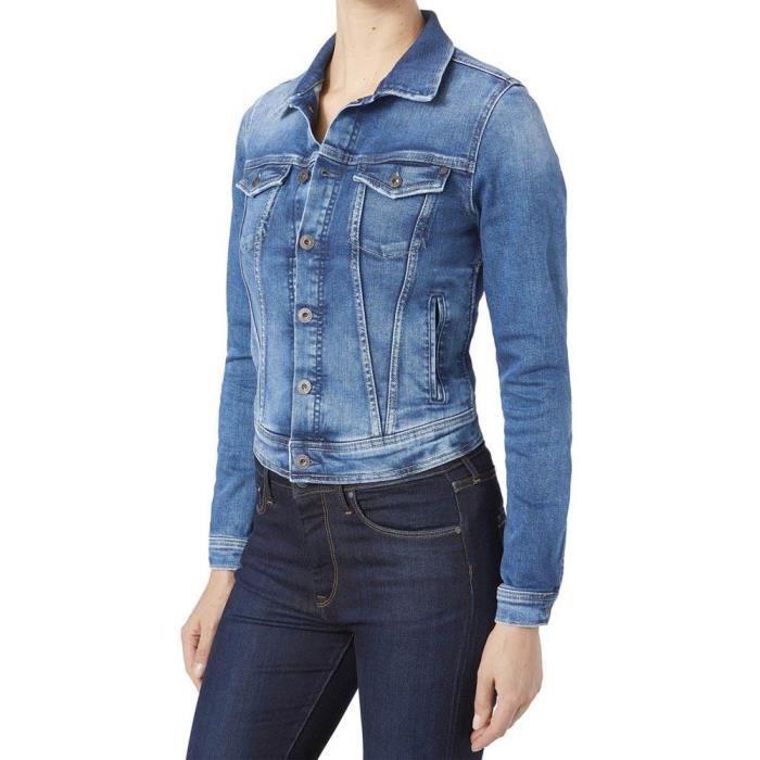 6a3b3e5b402 Vêtements Femme Vestes Pepe Jeans Core Jacket Blanc Multicoloured ...