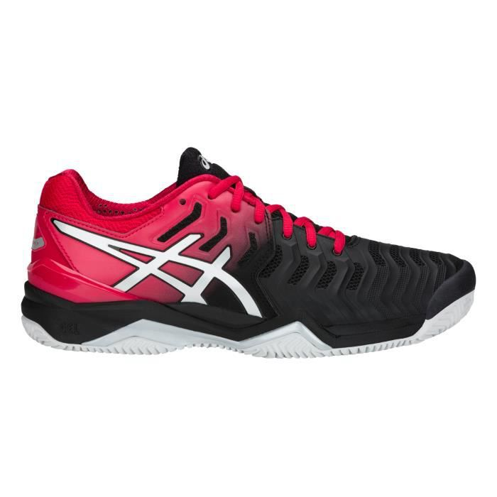 Chaussure Asics Gel Resolution 7 Clay Noir Rouge FW18