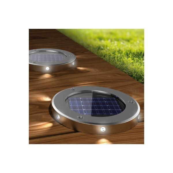 Spot solaire encastrable puissant lot de spots solaire - Spot encastrable exterieur solaire ...