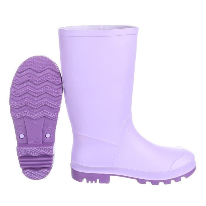 Chaussures pour enfants botte fille jeune chaussures de pluie caoutchouc pourpre 30 p1HkzpQ