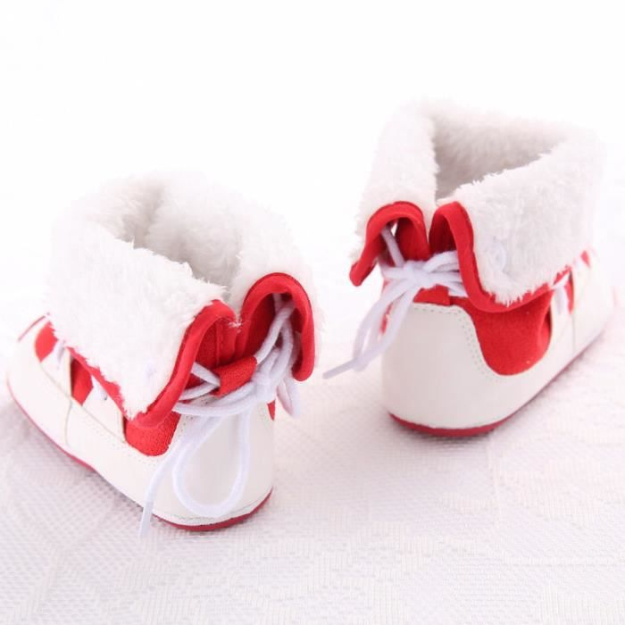 Douce De Au Garder En Bas Chaud Lit ge Bb Rouge Doux Enfant Chaussures Sole Neige Bottes Ygqw8w