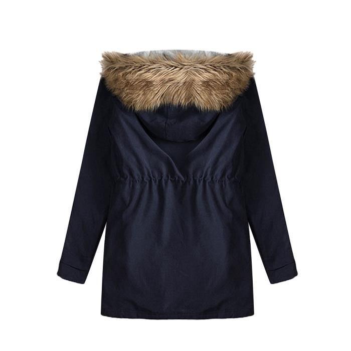Dm5544 Fausse À Capuchon Fourrure Avec Vestes Manteaux En Parkas Chaud Femmes aqUCwOn