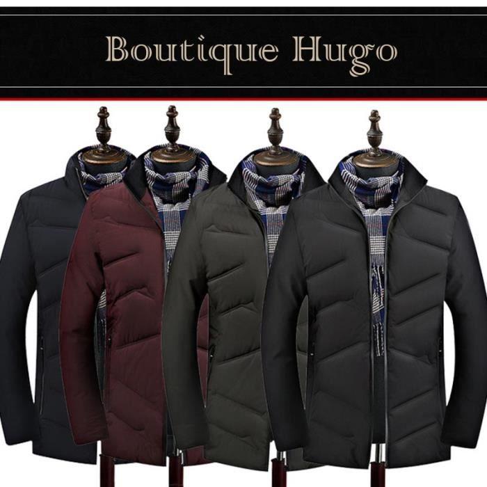 Ouatée Vêtements De blouson Hiver Hugo Homme Montant Boutique Col Veste Casual fv4zwxEEq