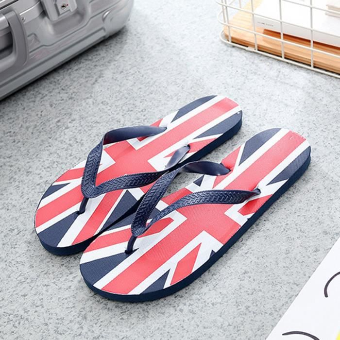 Plage Independence Hommes Pantoufles Dérapage Sandales Qe787 Drapeau Tongs Day Anti Chaussures wFgwpq1