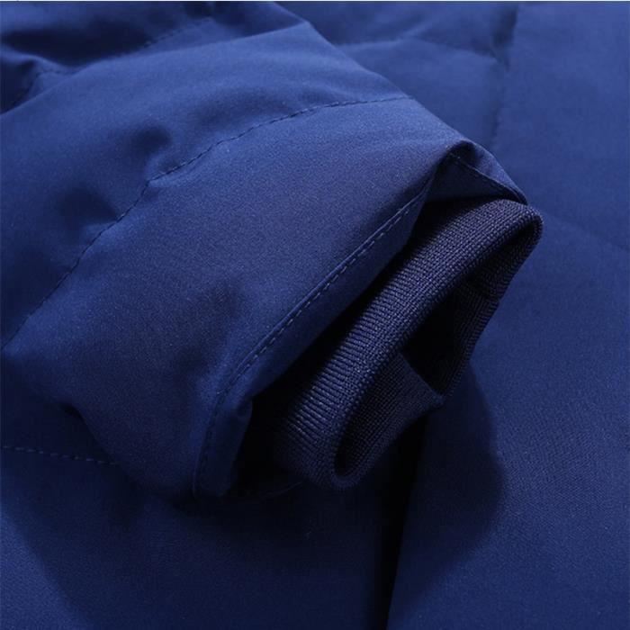 Doudoune Bleu Hommes Jot Homme À Marque Vêtement Fausse nbsp;luxe Masculin Duvet Capuche Fourrure Et Hiver pfpwnA16xr