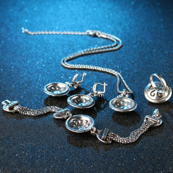 Cadeaux Saint-Valentin de la femme pour ami Femme   Aaa + haute qualité Blue Crystal élégant Party Fancy Wear ZVMUL