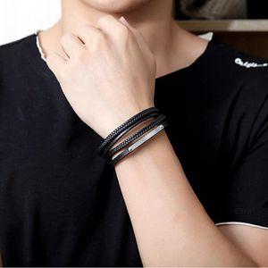 BRACELET - GOURMETTE Bracelet homme Accessoire Cuir Multicouche de Char