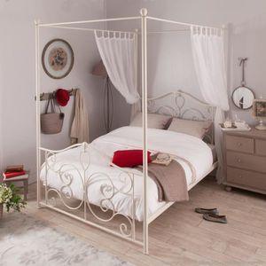 lit baldaquin avec sommier achat vente lit baldaquin avec sommier pas cher soldes d s le. Black Bedroom Furniture Sets. Home Design Ideas