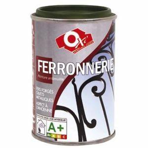 PEINTURE - VERNIS FERRONNERIE - 100 ml - NOIR VELOURS