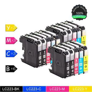 CARTOUCHE IMPRIMANTE Brother LC223 Multi-pack 15x (6xNoir,3xCyan,3xMage