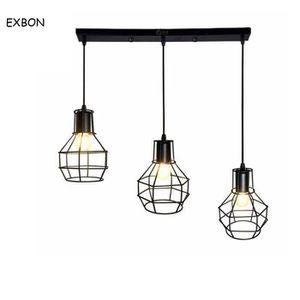 LUSTRE ET SUSPENSION ss-33-EXBON Lustre - suspension 3 lumières métal B