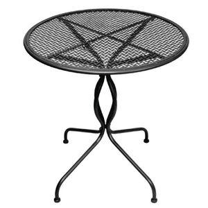 MANGE-DEBOUT Boléro en acier classique Patio Table Noir 700mm