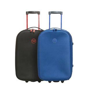 SET DE VALISES TRAVEL WORLD - Lot de 2 Valises Cabine Souple 2 Ro