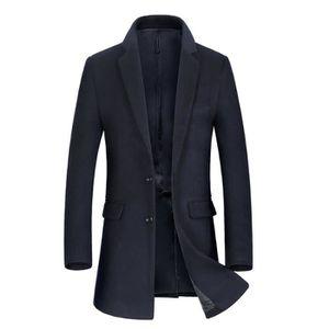 MANTEAU - CABAN Laine Manteau Longue Homme Marque Luxe Costume Col de8d6cd6825