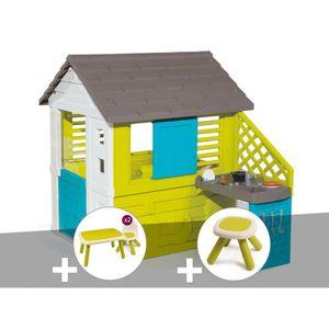 MAISONNETTE EXTÉRIEURE Cabane enfant Pretty + Cuisine d'été - Smoby + Tab