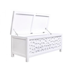 coffre de bout de lit achat vente coffre de bout de lit pas cher cdiscount. Black Bedroom Furniture Sets. Home Design Ideas