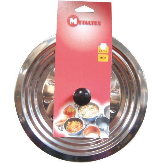 Couvercle anti-gras en inox - D: 28 à D: 30 cm