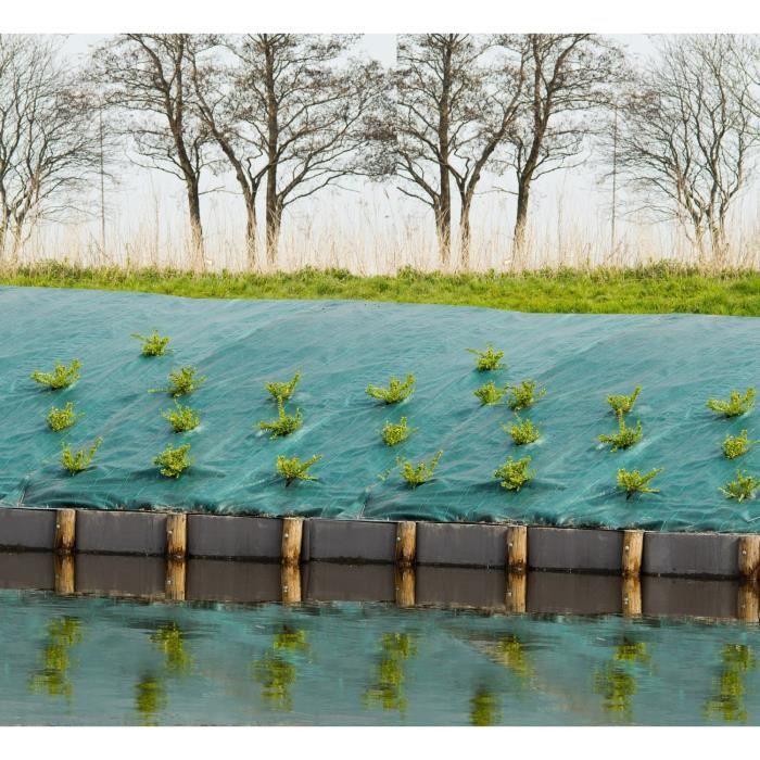 Toile de paillage paysages - PP tissé vert traité anti UV 90 gr/m² - 5,20 x 5 m.PAILLAGE - VOILE - PROTECTION CULTURE