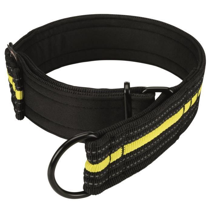 TRIXIE Collier semi-étrangleur Sporting Fusion M–L : 38–48 cm-45 mm - Noir et jaune - Pour chien
