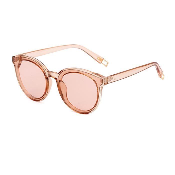 Lunettes de soleil mixte homme et femme de Fashion Moderne Cadre sunglasses marque de Luxe Marron/Marron