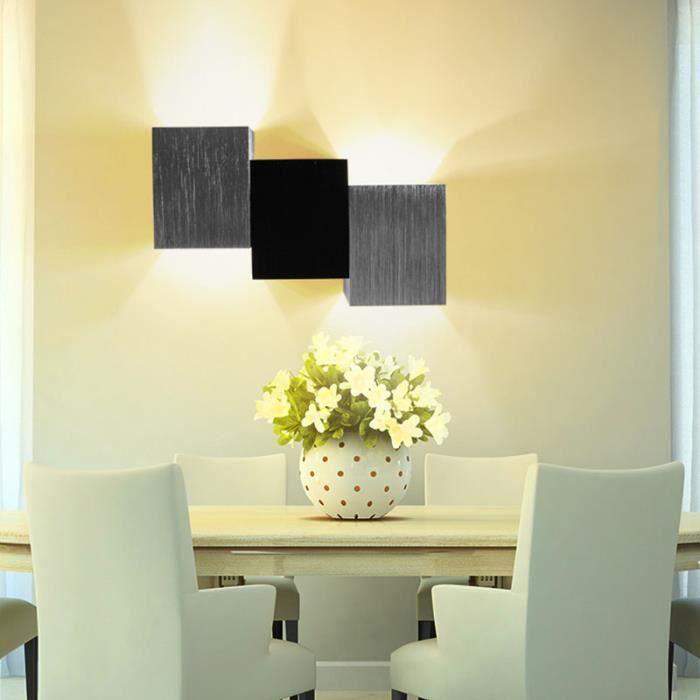 Applique Murale Intérieur Led Moderne Lampe Carrée 3W Pour Chambre
